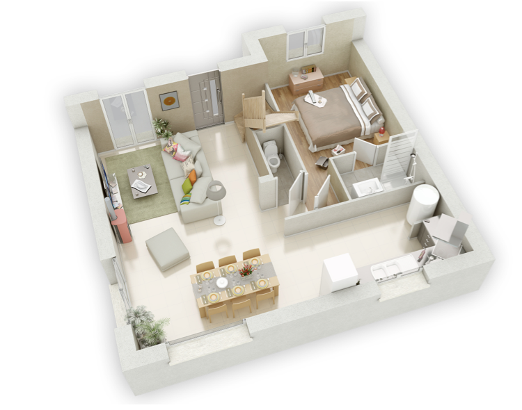 Angelie mikit for Plan 3d amenagement interieur